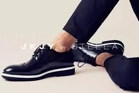 JKJY by stella 黑色白底紳士鞋牛津鞋
