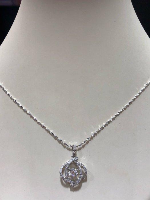 1.02克拉天然鑽石鉑金項鍊,超豪華立體墜台,附上GIA國際證書,鑑賞價118000,加贈14K金項鍊,高等級顏色鑽石超白,鑽石會跳動超亮眼