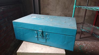 早期眷村鋁製鉚釘鋁箱提箱----