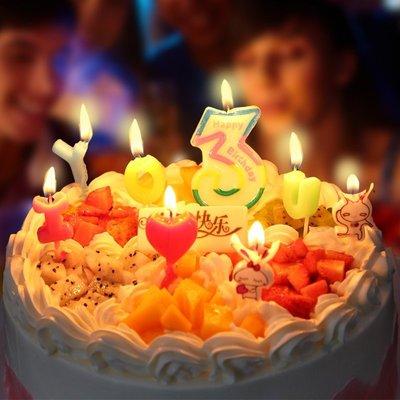 蛋糕用品生日蠟燭數字卡通網紅抖音兒童成人浪漫周歲派對烘培裝飾