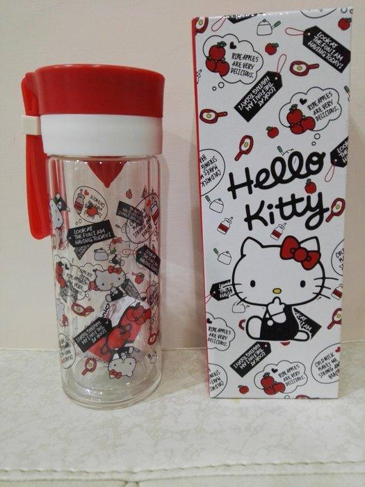 《東京家族》透明/紅 Kitty雙層耐熱 玻璃水壺/檸檬瓶