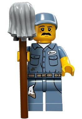 現貨【LEGO 樂高】積木/ Minifigures人偶系列: 15 代人偶包抽抽樂 71011   清潔工人
