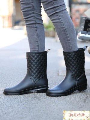 雨靴 韓國時尚雨鞋女中筒防滑水靴雨靴成...