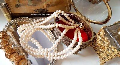 黑爾典藏西洋古董~美國60年代RICHELIEU人造珍珠項鍊~Vintage復古珠寶收藏