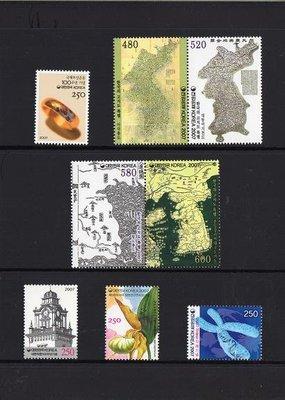 【KK郵票】《韓國年度冊》2007韓國郵政年度冊,共六頁24套郵票。