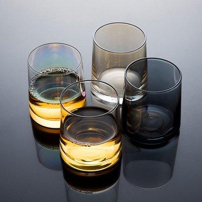 酒杯高腳杯洋酒杯 即物 日式手工玻璃杯子套裝家用威士忌酒杯厚底果汁冰飲網紅酒杯