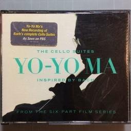 企鵝三星戴花-Yo Yo Ma 馬友友/巴哈的靈感(巴哈無伴奏大提琴奏鳴曲) 美國版厚殼2CD