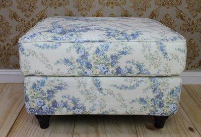 沙發 2人 / 3人 /沙發凳/L型/跨腳椅/客廳椅/小孩椅(白底藍花)