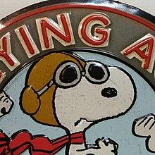 889 史努比 鐵片製 看板 療癒 Flying Ace 寬:44㎝×高23㎝