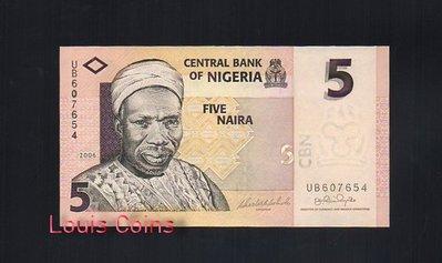 【Louis Coins】B137-NIGERIA-2006奈及利亞紙幣5 Naira