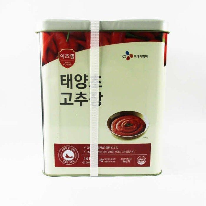 韓國知名大廠CJ希杰牌辣椒醬14Kg~韓國辣椒醬韓式辣椒醬14Kg~餐廳專用韓式辣椒醬