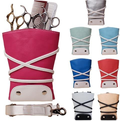 高檔理發美發剪刀腰包寵物師剪刀工具包挎包腰包剪刀包