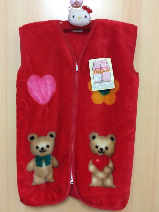 Sanrio hello kitty 保暖背心 好穿柔暖/雙面設計/雙頭拉鍊設計《日本製,1997年商品》特價出清