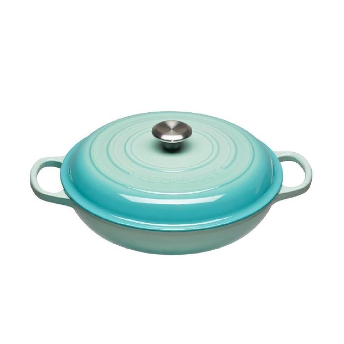 法國 LE CREUSET 鑄鐵鍋 淺圓鍋 壽喜燒 LC鍋 30cm 7色可選