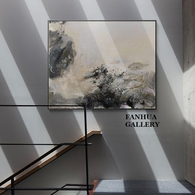 C - R - A - Z - Y - T - O - W - N 趙無極抽象裝飾畫現代新中式客廳過道掛畫樓梯玄關壁畫