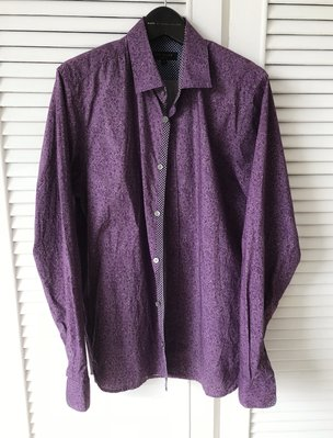 TED BAKER 華麗紫色變形蟲印花襯衫