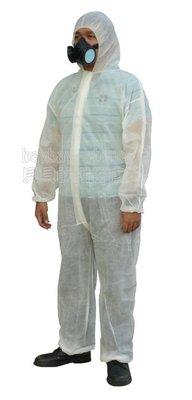 (安全衛生)經濟型防護衣_不織布材質、防液體噴濺、農藥噴灑、防粉塵_輕便拋棄式