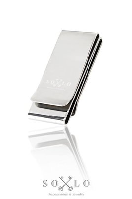 美國東村【SOLO】 Basic Logo 鈔票夾 不鏽鋼 (銀色)