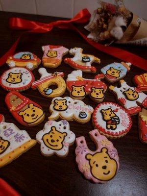 甜點兒窩廚房 小熊款 收涎餅乾 彩繪餅乾