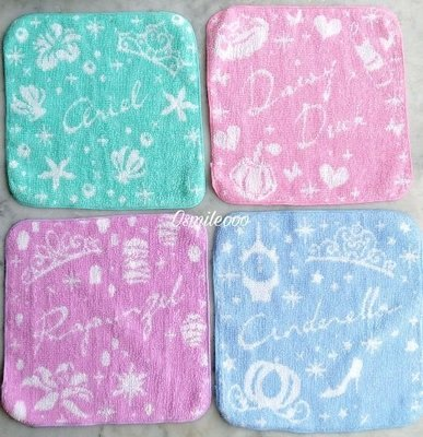 Osmileooo-23×23cm公主系列提花純棉毛巾 方巾 手帕