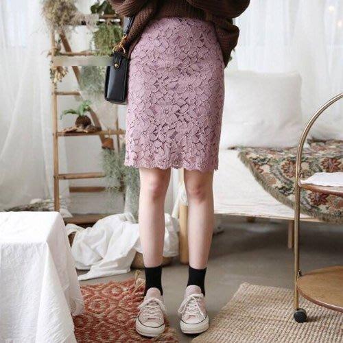 拍賣-姐無所畏活動限定/限量50組/每人限購1品 及膝裙 法式蕾絲A字包臀裙S~6XL 艾爾莎【TAE8210】