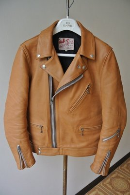 Addict Clothes AD-03 mustard色 36號 皮衣 Lewis leathers 441T可參考