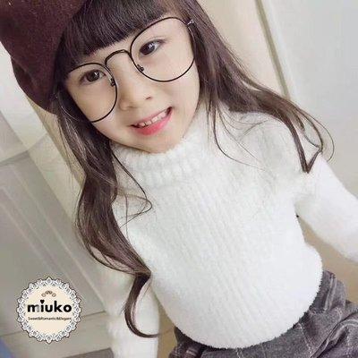 miuko BABY款韓版嬰幼兒男女寶寶男童女童 秋冬 加厚 彈性好 高領 素色 內搭 毛衣(此款偏小1碼)/現貨