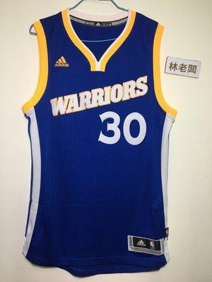 林老闆 Adidas NBA 愛迪達 金州勇士隊 Stephen Curry球衣  藍黃  BF0116