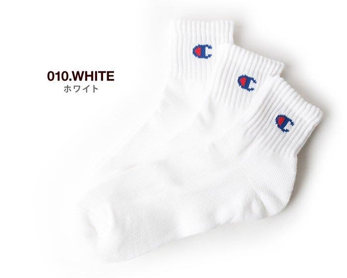 ☆AirRoom☆【現貨】CHAMPION 日版 襪子 小C 三雙一組 2色 CMSCH202 黑 白 單雙賣場