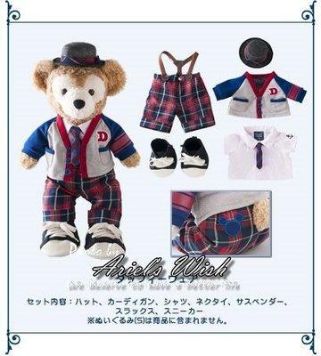 Ariel's Wish-日本Tokyo東京Disney迪士尼Duffy英倫學院風格子款坐姿S號衣服吊帶五件組-最後一組