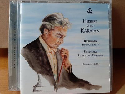 Karajan,Beliner Phi Orch,Beethoven-Sym No.7 etc,卡拉揚指揮柏林愛樂管弦,演繹貝多芬-第7號交響曲,史塔拉汶斯基。