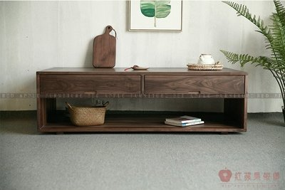 [紅蘋果傢俱]MJ013 茶几 原木 實木 置物架 地櫃 長方形茶几