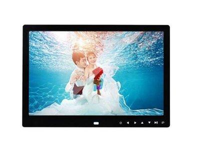 熱賣新款輕薄13寸相框 13吋LED觸摸按鍵高清數位相框廣告機電子相冊 影音播放喇叭遙控器