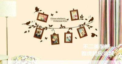 【格倫雅】^愛之戀曲 實木相框+墻貼 第二代相片墻組合  相框 裝飾畫框 712020