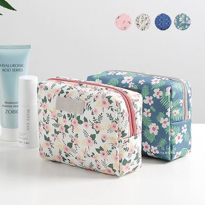 【可愛村】森林系花鳥旅行洗漱化妝包 化妝包 洗漱包 旅行包 隨身包