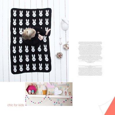 Sis 歐美 北歐 時尚 嬰兒毯 空調毯 毛毯 滿月禮 兔子 針織  家居飾品