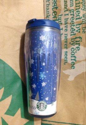 Starbucks星巴克~2010年 聖誕節 雪花 星星 冰柱隨行杯16oz~全新己絶版~台北可面交