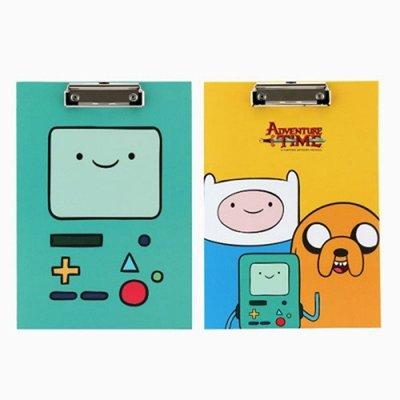 ♀高麗妹♀韓國 Adventure Time 探險活寶 嗶莫老皮 阿寶 多功能文件夾/書寫板(2色選)預購