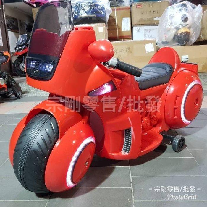 【宗剛零售/批發】超酷炫機車(中型)CT-MB912-3 輪胎可發光 多功能音響(紅