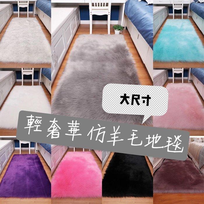 (大尺寸、可訂製)輕奢華仿羊毛地毯 毛絨地毯沙發墊 拍攝道具 化妝台  餐廳 工作室裝飾 美髮美甲店佈置