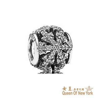 紐約女王代購 Pandora 潘多拉 鑲鑽鏤空雪花串珠 925純銀 Charms 美國代購 可分期