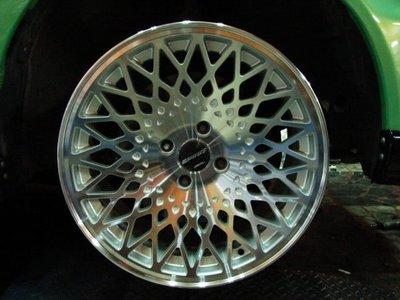 ~三重長鑫車業~正美國品牌 8J ET20 特殊網狀銀底車面 4孔 100 16吋鋁圈 GOLF E30 G20