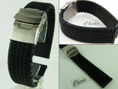 錶帶屋 18mm 20mm 22mm 24mm單折扣矽膠錶帶膠帶 蕭邦 ORIS 波爾BALL OMEGA BALL 積家 豪爵