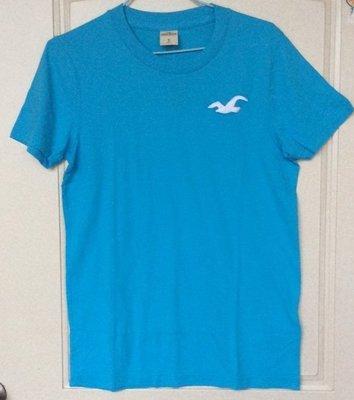 【全新真品現貨在台】A&F副牌Hollister (HCO)藍色短袖T恤S/M號