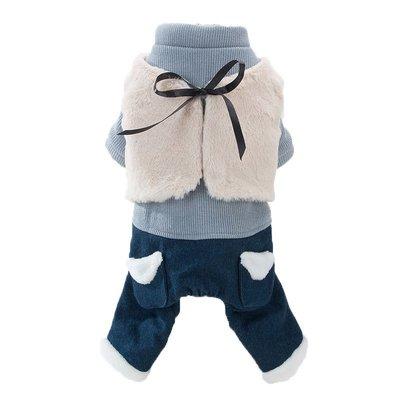 家裡的小怪獸   狗狗衣服四角冬季加厚雪納瑞法斗泰迪比熊柯基貓咪衣服