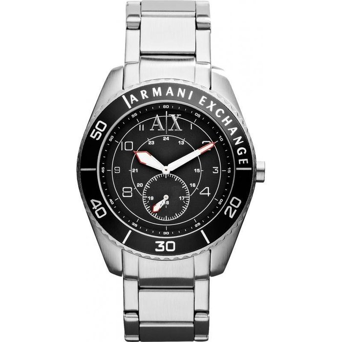 現貨【A X ARMANI EXCHANGE- AX 1263】全新正品 時尚 運動 名錶.手錶 / 不鏽鋼黑色