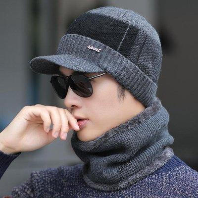 毛帽帽子男士冬季保暖毛線帽韓版潮秋冬天加絨戶外騎車棉帽防寒針織帽