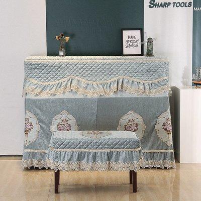 SUNNY雜貨-鋼琴罩全罩蕾絲蓋布套鋼琴布藝現代簡約琴罩凳罩防塵罩半罩韓國#防塵罩#家居用品