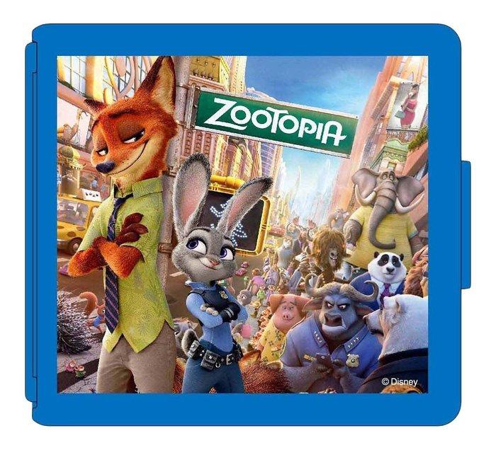 New3DSLL 任天堂授權 迪士尼授權 動物方城市 ZooTopia 16入卡帶盒 藍色 【板橋魔力】