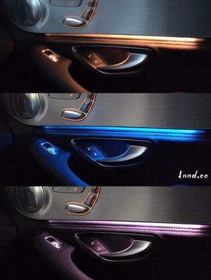 -宗蒼歐系改裝-  BENZ 賓士 W205 W253 賓士三色氛圍燈 C/GLC 氣氛燈(中控+四門)